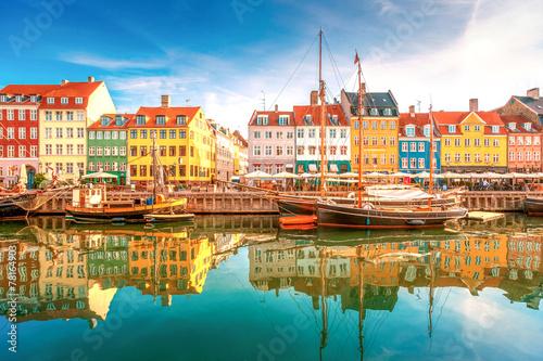 Staande foto Europa Nyhavn Kopenhagen
