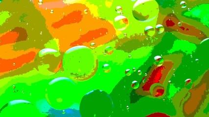 Öltropfen schwimmen in Wasser
