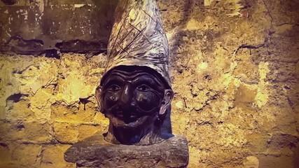 Pulcinella statue, Naples, Italy