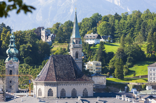 canvas print picture Kirche St. Peter und Franziskanerkirche, Salzburg