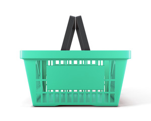 Empty plastic shopping basket for food