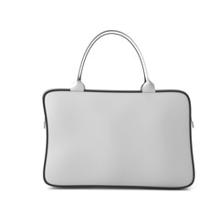 White bag with zipper front view