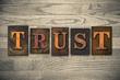 Trust Wooden Letterpress Concept - 78166757