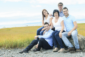 Happy Big Family Outdoor