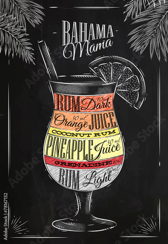 Banama mama cocktail chalk - 78167132