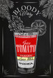 Bloody mary cocktail chalk - 78167737