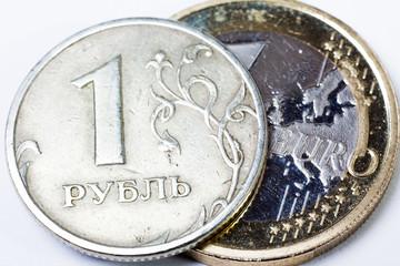 Euro und Rubel