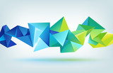 vector geometric shape, abstract futuristic background
