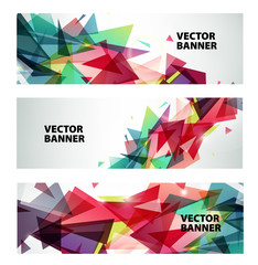 set of vector abstract colorful banners