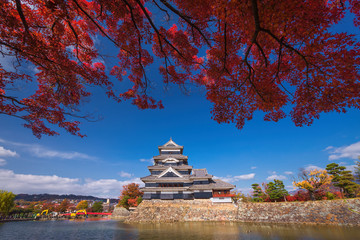 The Matsumoto Castle in Autumn, Nagano prefecture, Japan.
