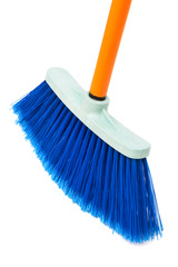 blue brush the floor