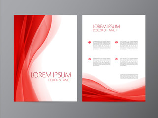 Abstract vector modern flyer brochure design templates