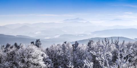 Voralpengebiet Niederösterreich im Winter