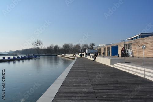 Foto op Canvas Poort Stadthafen Senftenberger See