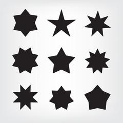 Vector set of stars