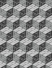 Grayscale geometric pattern for wallpaper