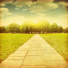 Grunge image of stone pathway.