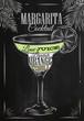 Margarita cocktail chalk - 78170965