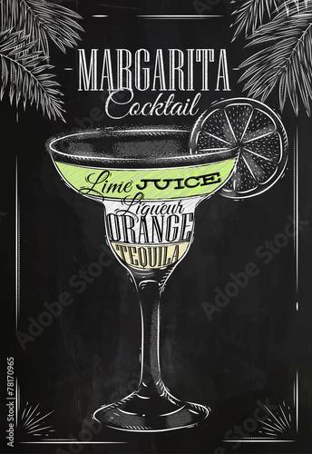 Fototapeta Margarita cocktail chalk