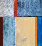 a grungy, minimalist, abstract painting
