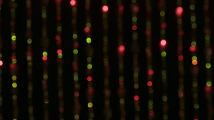 Colorful and Shiny beaded curtain with black background
