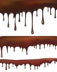 Set of chocolate drips