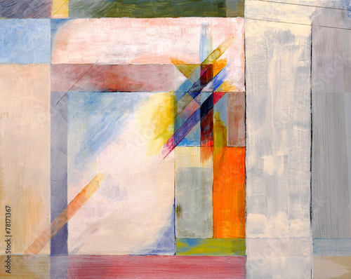 Plakat an abstract painting
