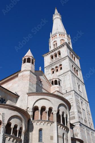 Leinwanddruck Bild ghirlandina tower, modena
