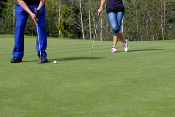 Golf, going for the hole