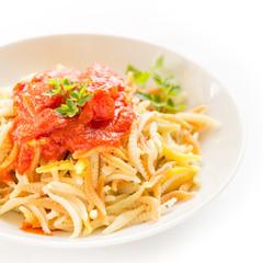 Malloreddus al sugo, gnocchetti sardi, Sardinian Pasta