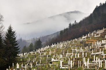 Cemetery in Travnik. Bosnia and Herzegovina