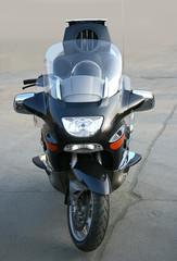 motorcycle with loudspeakers