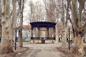 Pavilion in Zrinjevac park, Zagreb, Croatia