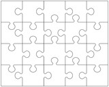 Vector illustration of white puzzle - 78175127