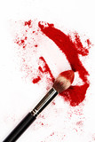 Fototapety Brush and a powder spread out