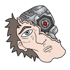 human robot face