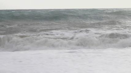 Autumn storm on the Mediterranean sea