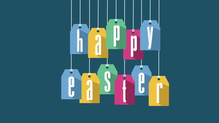 Happy easter, Video animation, HD 1080