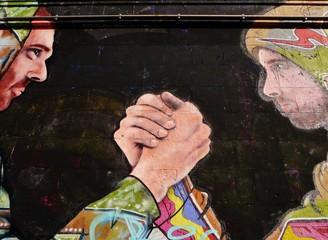 Grafitti von Kämpfern