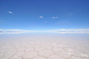 鏡張り ウユニ塩湖