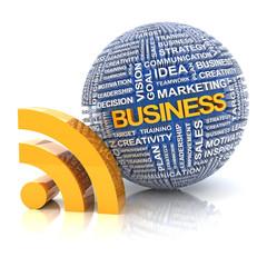 Business information concept, 3d render