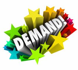 Demand Word Stars Increase Improve Rising More Customer Response