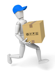 Courier and package