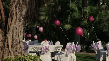Video Footage,Valentine's celebration on open-air restaurant