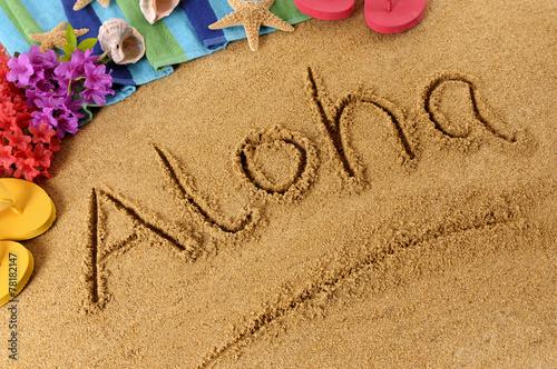 Aloha beach writing - 78182147