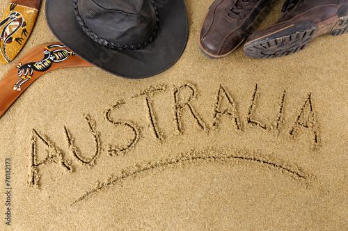 Poster Oceanië Australia background