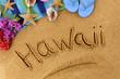 Hawaii beach writing