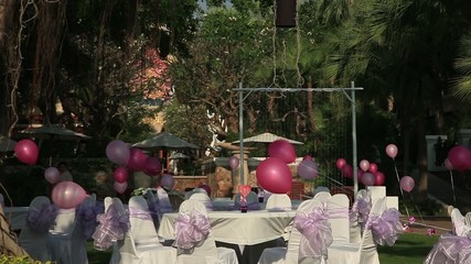 Stock Video Footage Valentine's Day, hearts and balloons
