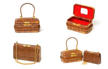 Thai handicraft  elegance woman basketry ,Yan lipao basketry