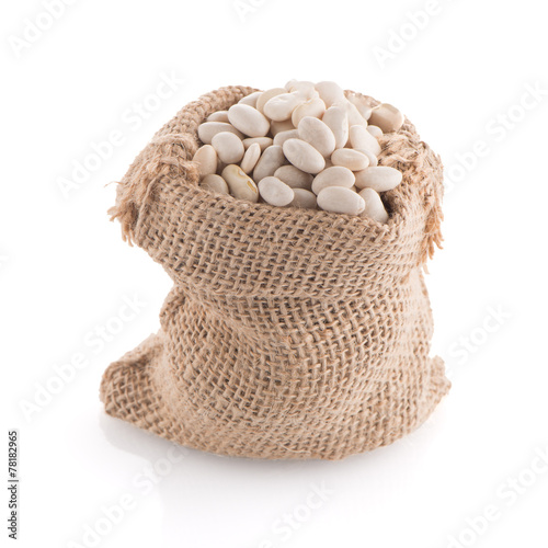 canvas print picture White beans bag
